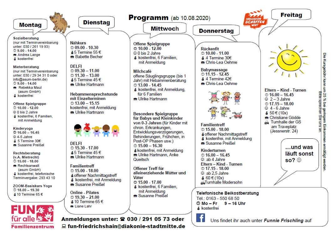 Programm ab 10.8.20
