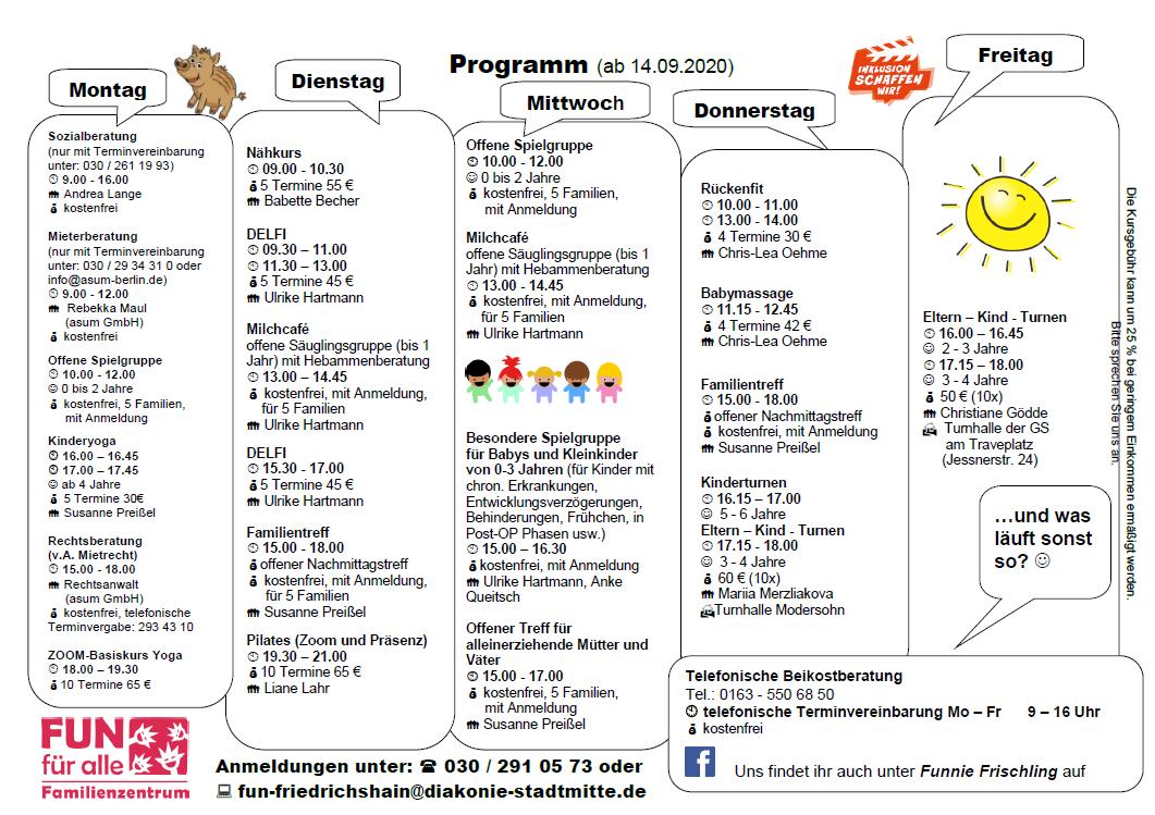 Programm ab 14.9.20